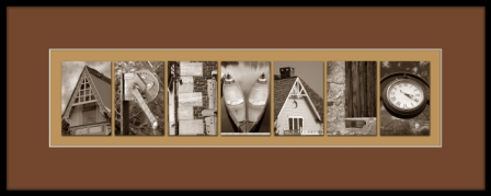 Framed Photo Art Individual Photo Letters